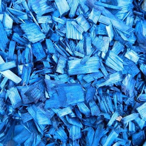 Щепа декоративная (отсыпка) синяя 60л