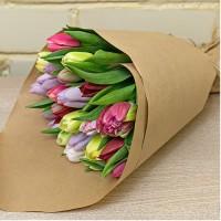 Букет из 19шт тюльпанов микс