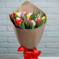 Букет из 25шт тюльпанов микс