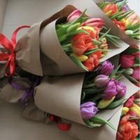 Букет из 7шт тюльпанов микс